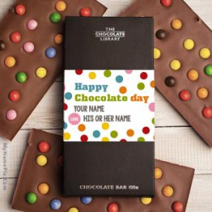 Happy Chocolate Day With Name
