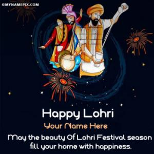 Happy Lohri Images With Name - Share Best Wishes