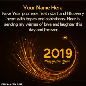 Happy New Year 2019 Images With Name