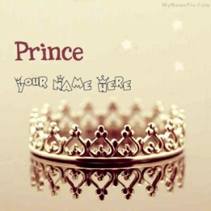 Prince Crown With Name