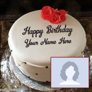 Simple Elegant Birthday Cake With Name