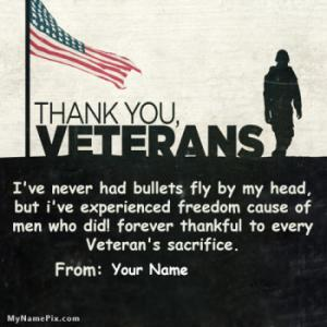 Thankful To Every Veterans Sacrifice