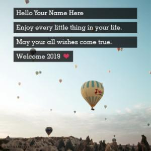 Welcome 2019 Wishes With Name - Happy New Year