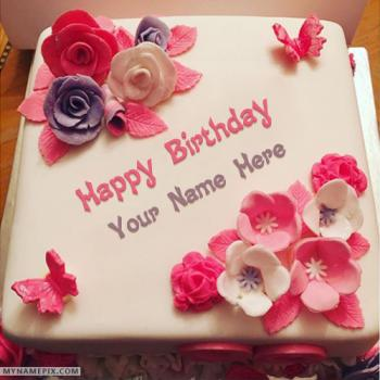 Beautiful Birthday Cake For Girls With Name
