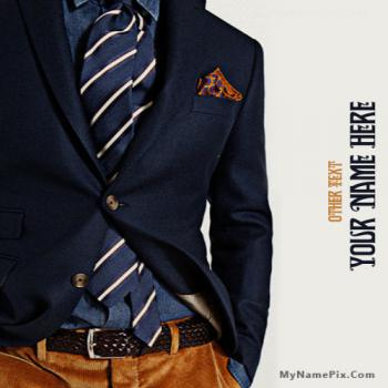 Classy Men Style Image With Name