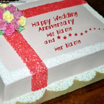 Happy Wedding Anniversary With Name