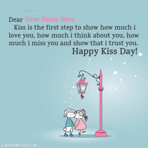 Romantic Kiss Day Images With Name