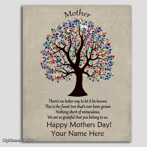 Awesome mothers day card ideas with your name Good ideas for mothers day card