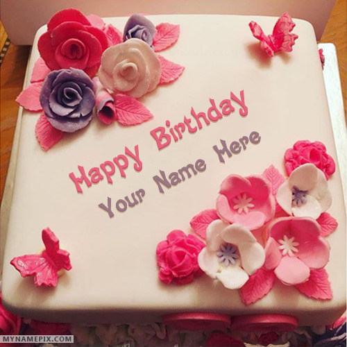 Amazing Beautiful Birthday Cake For Girls With Name Funny Birthday Cards Online Elaedamsfinfo