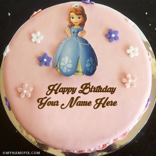 Marvelous Beautiful Girl Birthday Cakes With Name Personalised Birthday Cards Petedlily Jamesorg