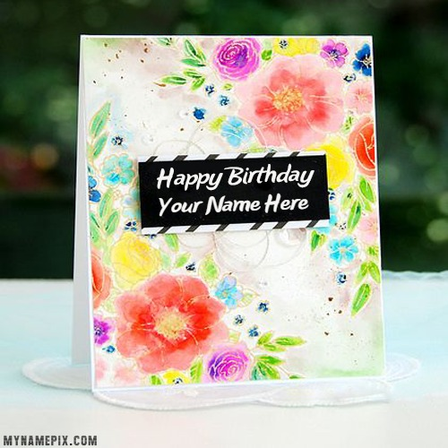 Beautiful Happy Birthday Card Name