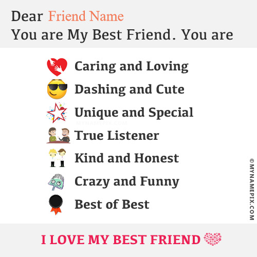 beautiful note for best friend with name