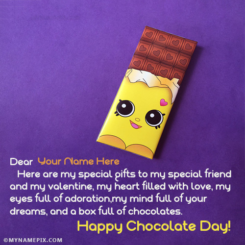 Best Chocolate Day Images With Name