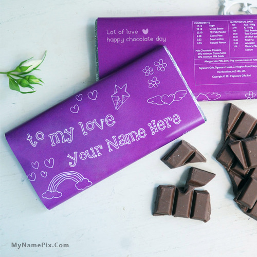 Best Chocolate Day Wish With Name