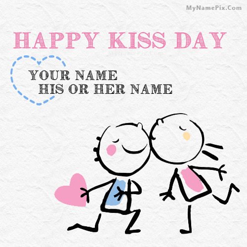 Best Happy Kiss Day Wish With Name