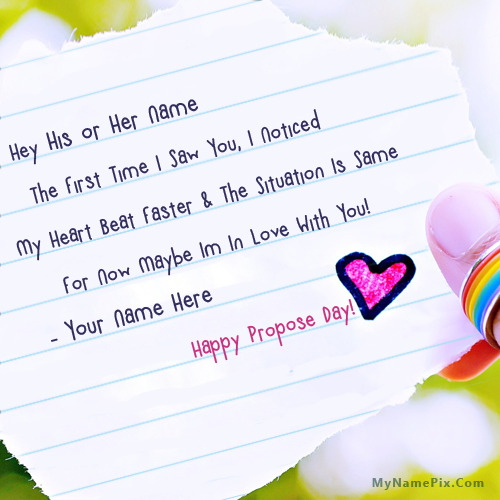 Best Propose Day Wishes With Name