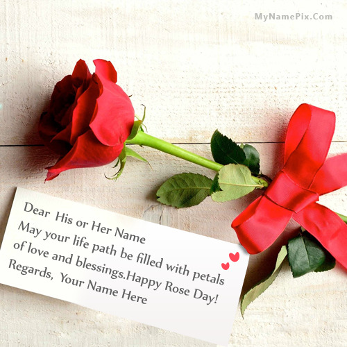 Best rose day greeting with name m4hsunfo