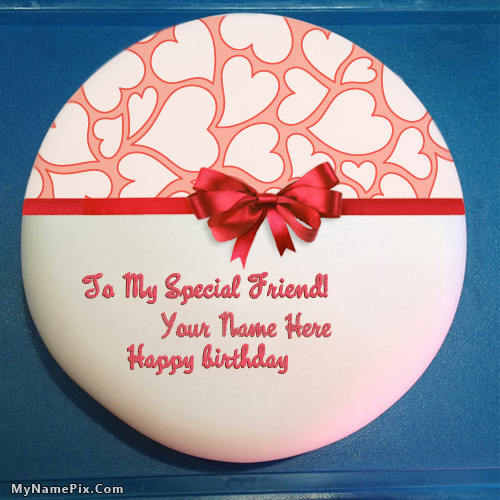 Images Of Birthday Cakes For Special Friend : Birthday Cake for Friend With Name
