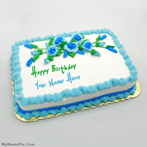 Flowers Cake With Name