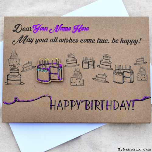 Happy Birthday Wishes Card With Name