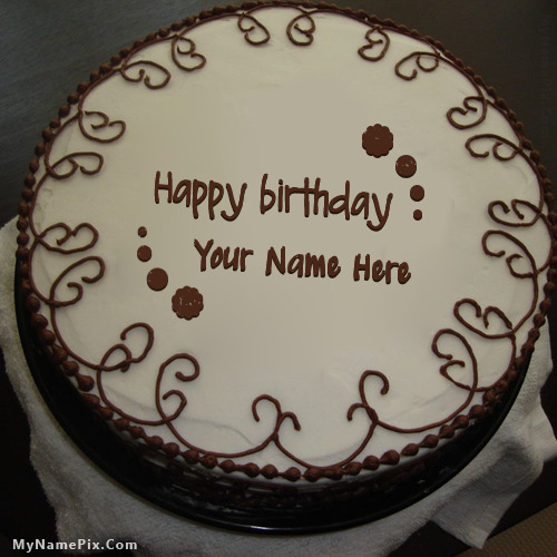 Border Chocolate Cake With Name