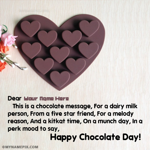 Chocolate Day Quotes Pic With Name