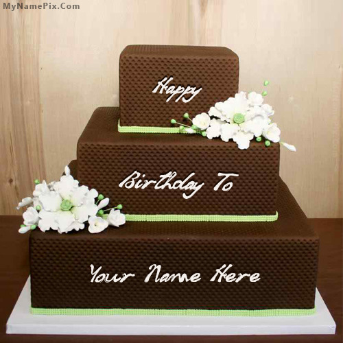 Chocolate Shaped Birthday Cake With Name