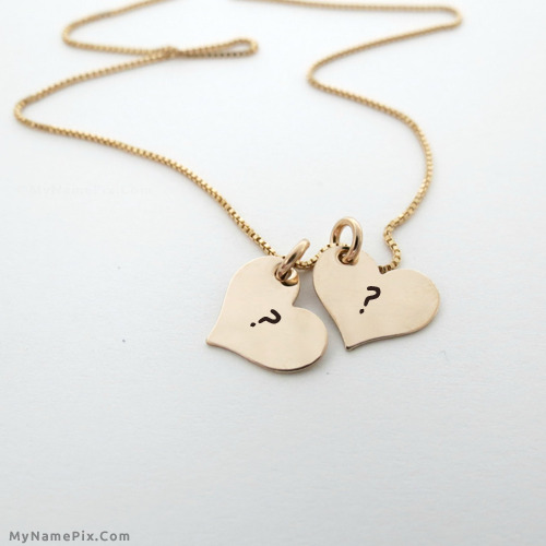 Couple Hearts Necklace
