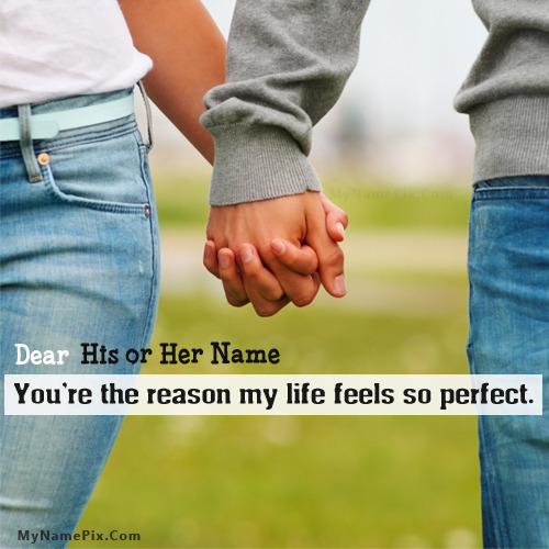 Couple Holding Hands With Name