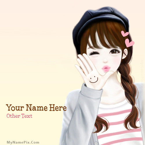 Cute Girl Image With Name