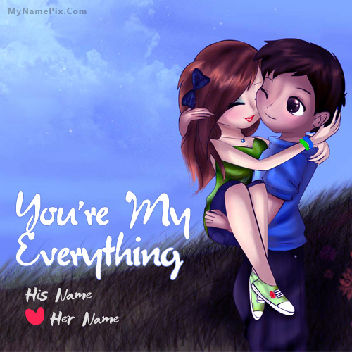 Cute Romantic Couple Image With Name