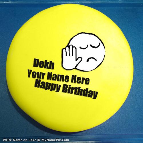 Dekh Bhai Birthday Cake With Name