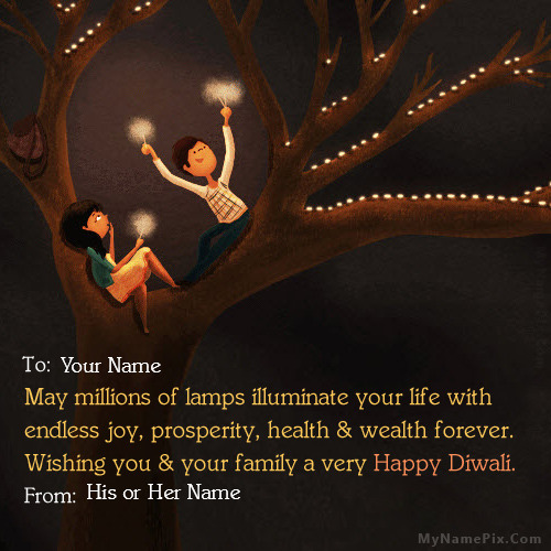Diwali greeting for couples with name m4hsunfo