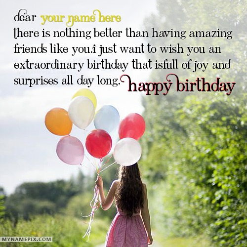 happy birthday wishes for girls with name