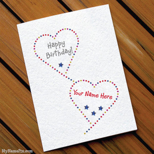 Say Happy Birthday With Name Card