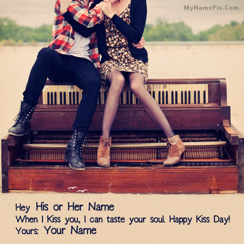 Happy Kiss Day Couple With Name