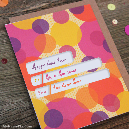 Happy 2017 New Year Card With Name