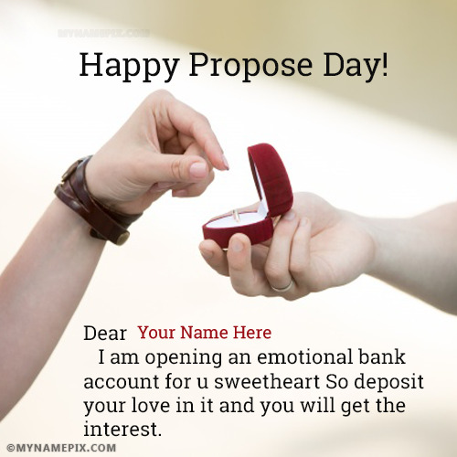 Happy Propose Day Messages With Name