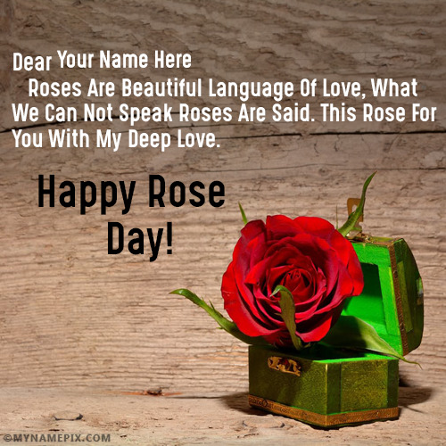 Happy Rose Day Quotes With Name