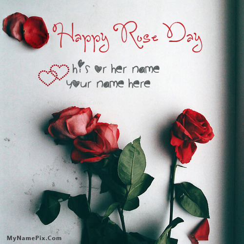 Happy Rose Day With Name