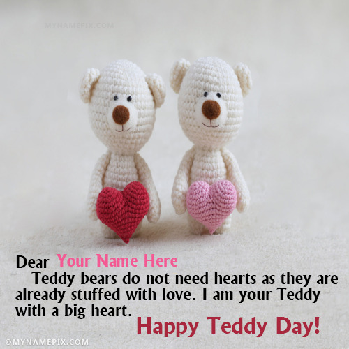 Happy Teddy Day Images With Name