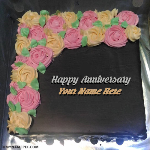 Hy Wedding Anniversary Cakes With Name