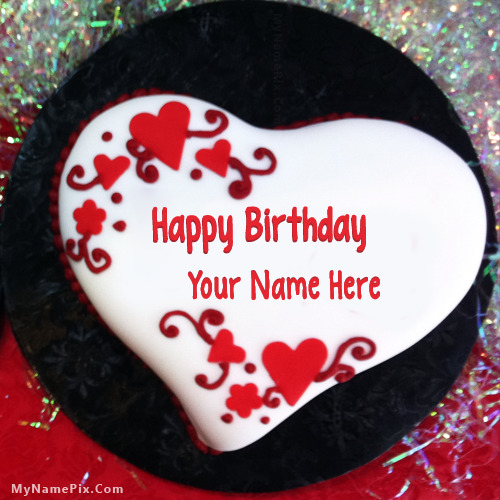 Birthday Cake Images Sonu : Heart Shaped Birthday Cake With Name