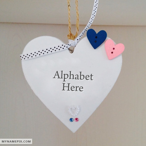 Initial Name Alphabet Letter On Heart Photo