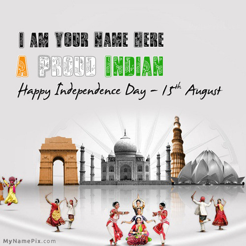 15th August Independence day India With Name