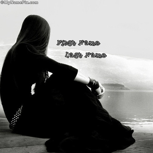 Sad Boy Alone Quotes: Alone Girl In Black With Name
