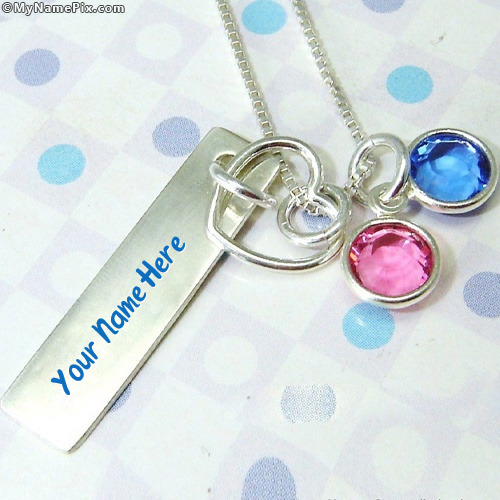 Personalized Colorful Pendant With Name