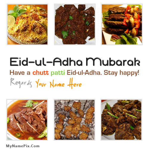 Eid ul Adha Mubarak With Name