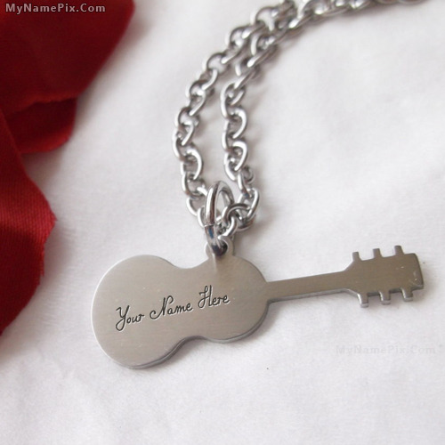 Personalized Guitar Necklace With Name