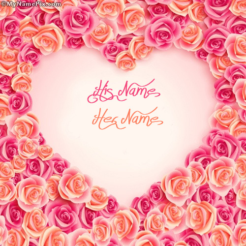 Heart of Roses With Name